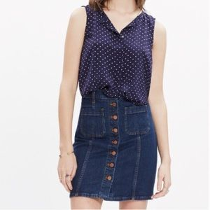 Madewell Silk Tank Top in Dots and Stars